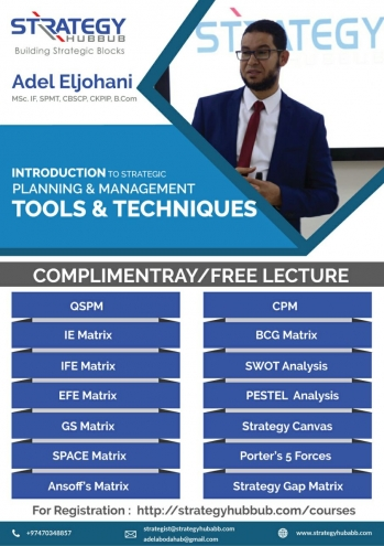 Strategic Planning &Management Tools &Techniques